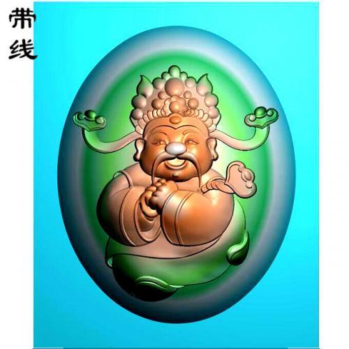 卡通财神精雕图(CS-8005)