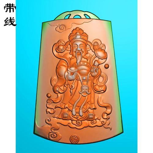 财神精雕图(CS-022)