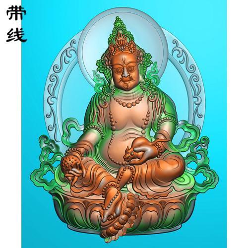 新黄财神精雕图(CS-029)