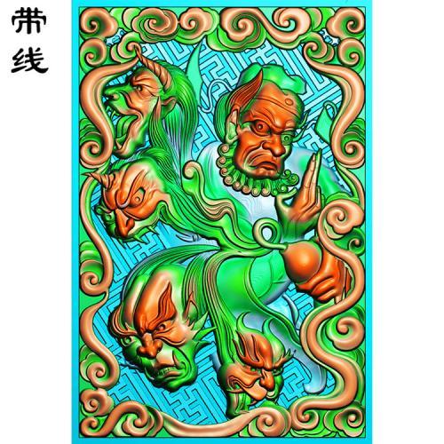 钟馗葫芦精雕图(GG-003)