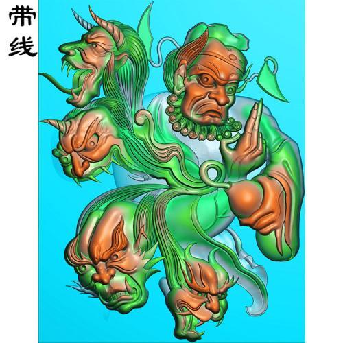 钟馗捉鬼精雕图有线(GG-006)