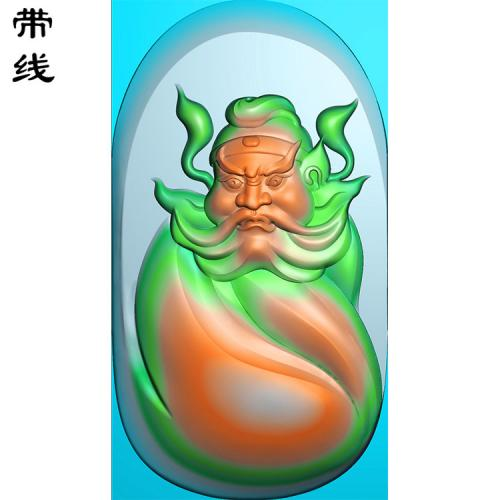 玉雕挂件钟馗精雕图(GG-013)