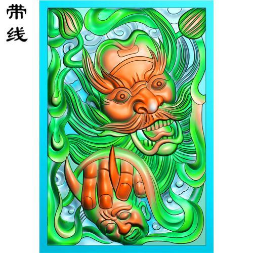 钟馗精雕图有线(GG-019)