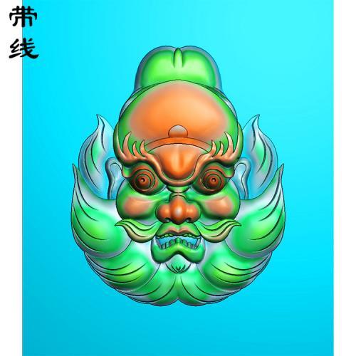 钟馗头像精雕图有线(GG-021)