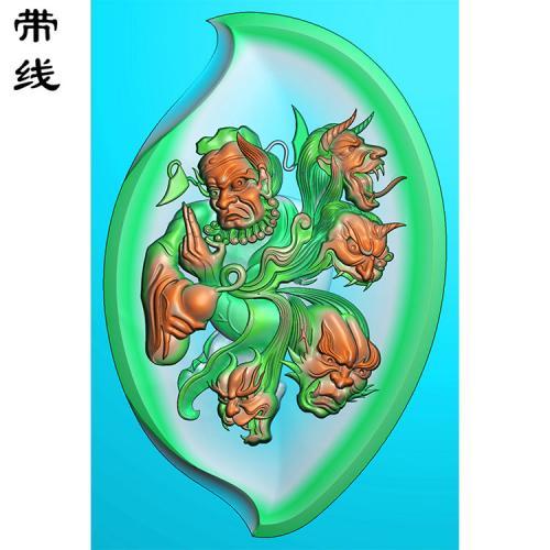 钟馗抓鬼精雕图有线(GG-022)