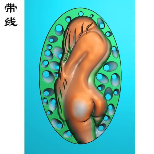 裸女美女挂坠精雕图有线(SV-006)