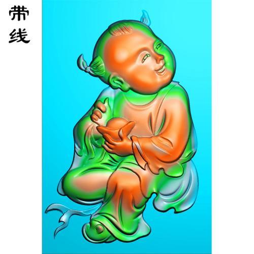 46牌招财童子精雕图有线(TZ-003)
