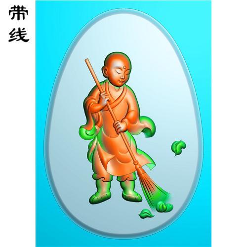 童子小和尚精雕图有线(TZ-014)