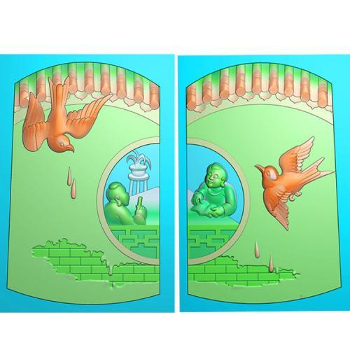 同窗童子精雕图(TZ-020)