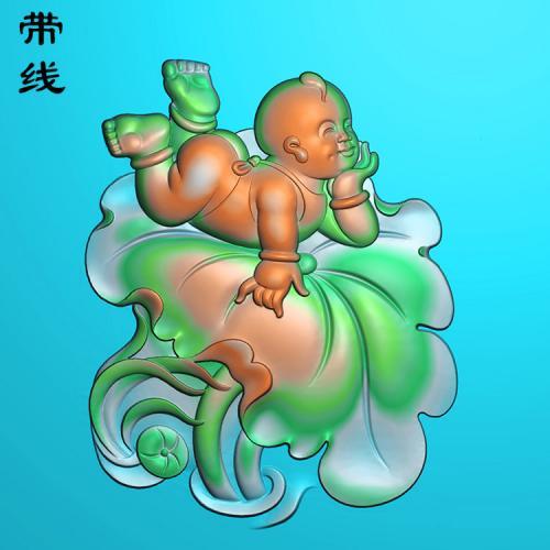 童子精雕图(TZ-021)