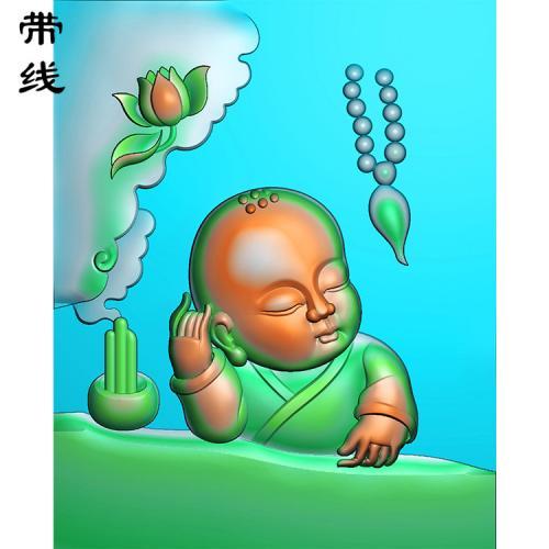 童子思悟精雕图有线(TZ-022)