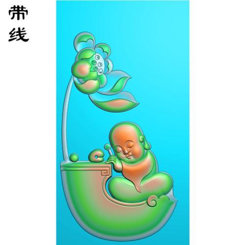 小和尚童子精雕图有线(TZ-023)