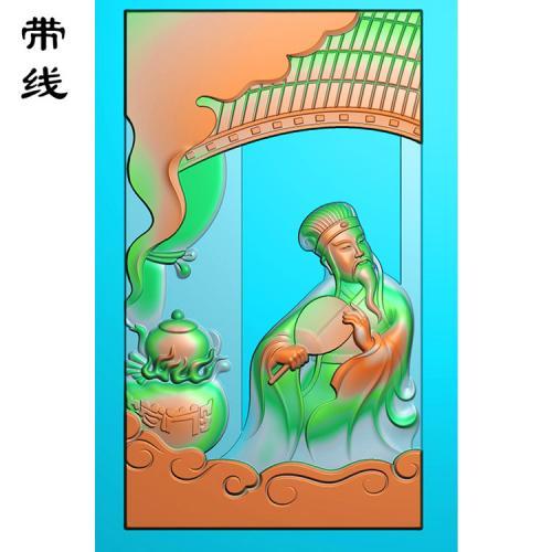 玉雕神机妙算之诸葛亮精雕图(GDR-082)