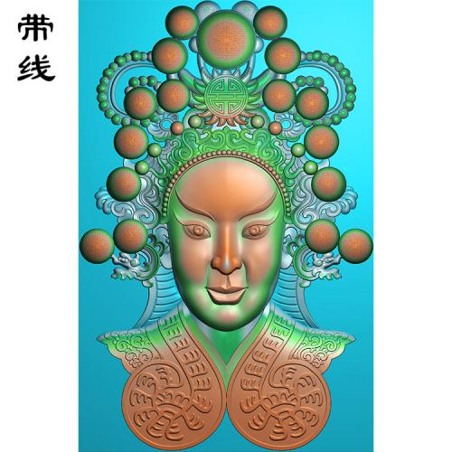 赵云脸谱精雕图(GDR-086)