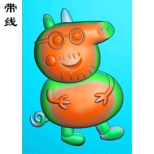 小猪佩奇卡通精雕图(KTR-002)