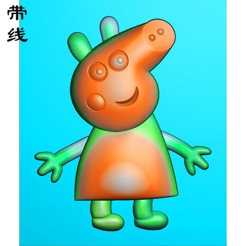 卡通小猪佩奇精雕图(KTR-003)