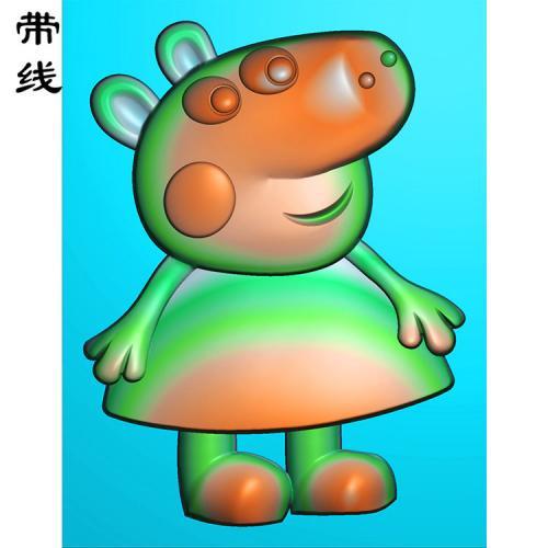 卡通小猪佩奇精雕图(KTR-006)