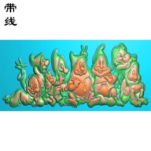 卡通小矮人精雕图(KTR-001)