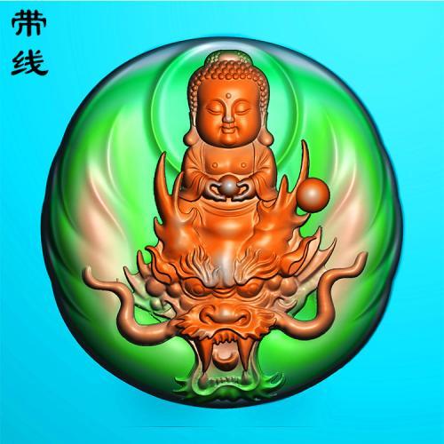 龙宝宝观音精雕图(YGY-064)
