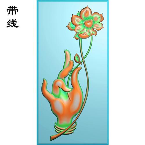 新款佛手莲花精雕图有线(FS-002)