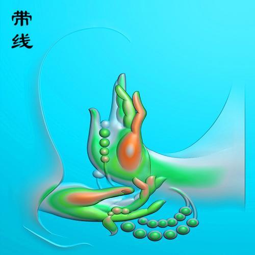 佛手佛珠精雕图有线(FS-006)