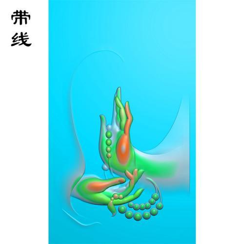 佛手佛珠精雕图(FS-010)