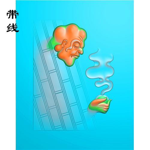 达摩悟道精雕图(DF-003)