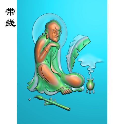 坐达摩精雕图(DF-006)