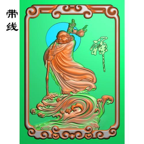 达摩禅牌子精雕图(DF-010)