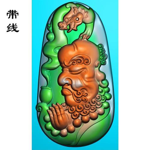 玉雕达摩老祖精雕图(DF-024)