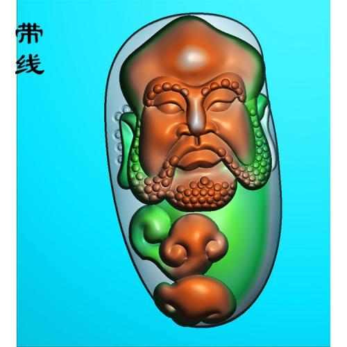 玉雕达摩老祖精雕图(DF-025)