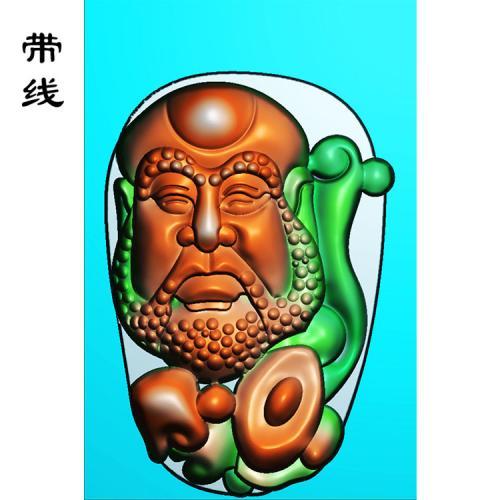 元宝玉雕达摩精雕图(DF-026)