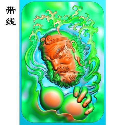 罗汉葫芦精雕图(LH-013)