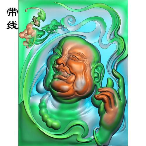 罗汉招福精雕图(LH-016)