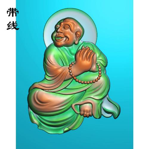 5全身罗汉精雕图(LH-021)