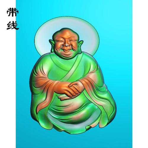 6全身罗汉精雕图(LH-022)