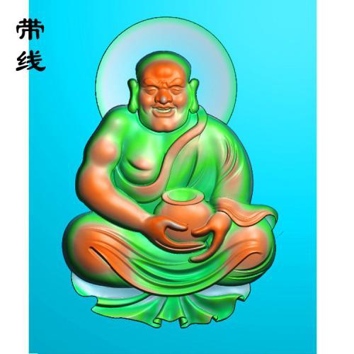 7全身罗汉精雕图(LH-023)