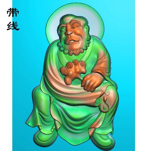 8全身罗汉精雕图(LH-024)
