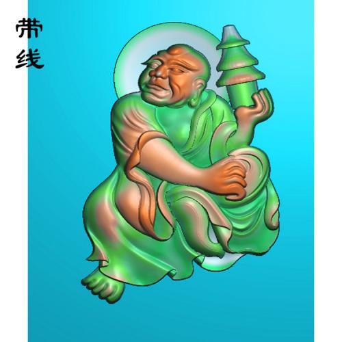 9全身罗汉精雕图(LH-025)
