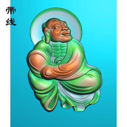 10全身罗汉精雕图(LH-026)