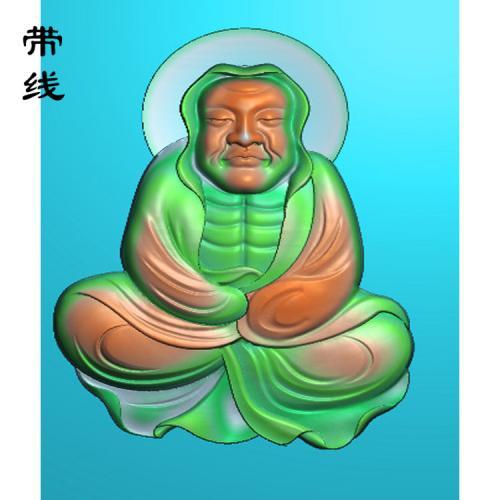 12全身罗汉精雕图(LH-028)