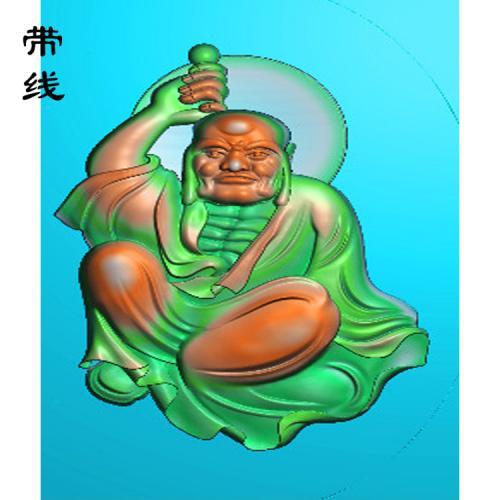 13全身罗汉精雕图(LH-029)