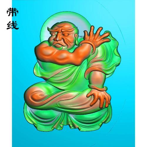 16全身罗汉精雕图(LH-032)