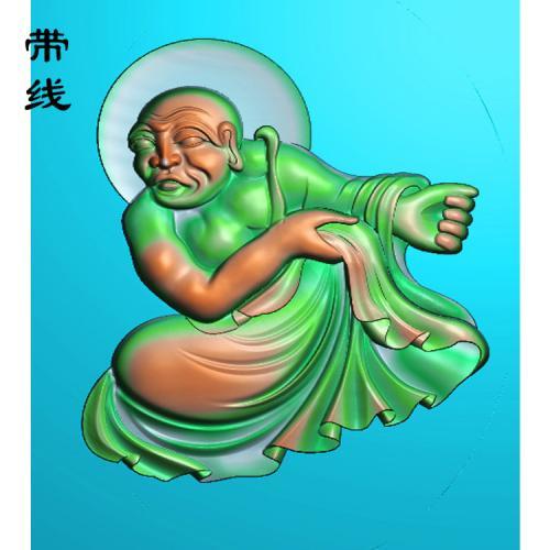 17全身罗汉精雕图(LH-033)