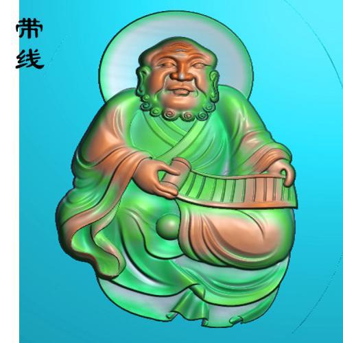 18全身罗汉精雕图(LH-034)