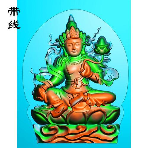 深雕藏传佛教藏佛精雕图(ZF-001)