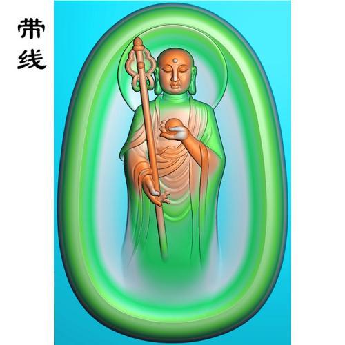 04圆地藏王精雕图(DZW-001)
