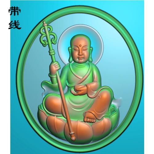 地藏菩萨精雕图(DZW-002)
