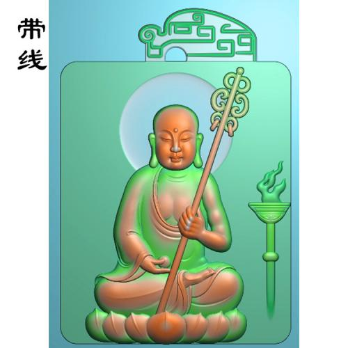 地藏王精雕图(DZW-005)