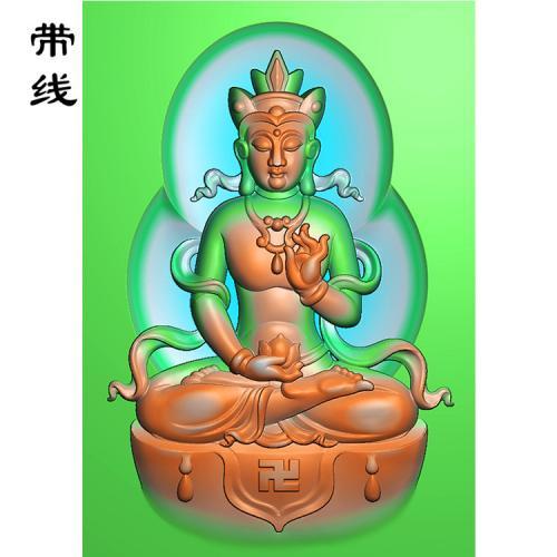 方牌地藏王菩萨九华山景色精雕图(DZW-007)